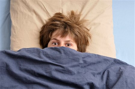 people in panic - Teenage Boy in Bed Stock Photo - Rights-Managed, Code: 700-04929257