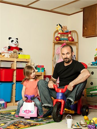 Father and Daughter in Playroom Stock Photo - Rights-Managed, Code: 700-04981809