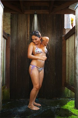 southeast asian ethnicity - Woman Wearing Bikini in Shower Stock Photo - Rights-Managed, Code: 700-05389265
