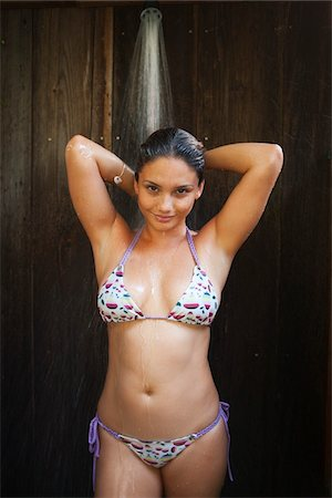 filipina - Woman Wearing Bikini in Shower Stock Photo - Rights-Managed, Code: 700-05389266