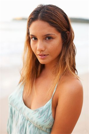 desire - Portrait of Young Woman, Hanalei, Kauai, Hawaii Stock Photo - Rights-Managed, Code: 700-05389276
