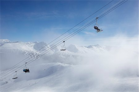 Ski Lift, Whistler Mountain, Whistler, British Columbia, Canada Stock Photo - Rights-Managed, Code: 700-05389286