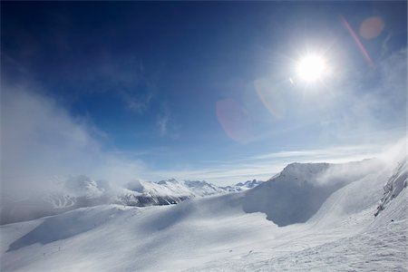Winter Landscape, Whistler Mountain, Whistler, British Columbia, Canada Stock Photo - Rights-Managed, Code: 700-05389287