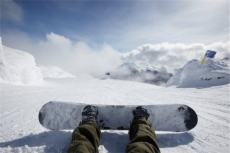 places - Snowboarders Feet, Whistler Mountain, Whistler, British Columbia, Canada Stock Photo - Rights-Managed, Code: 700-05389326