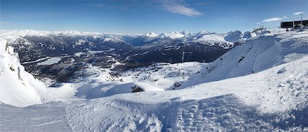 panoramic winter scene - View from Whistler Mountain, Whistler, British Columbia, Canada Stock Photo - Rights-Managed, Code: 700-05389337