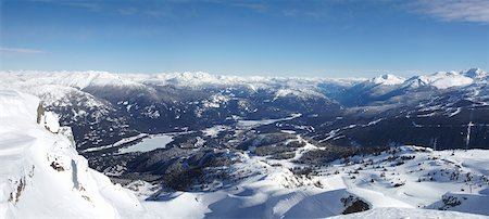 panoramic winter scene - View from Whistler Mountain, Whistler, British Columbia, Canada Stock Photo - Rights-Managed, Code: 700-05389333