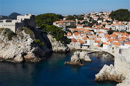 Waterfront, Old City, Dubrovnik, Croatia Stock Photo - Rights-Managed, Code: 700-05389367