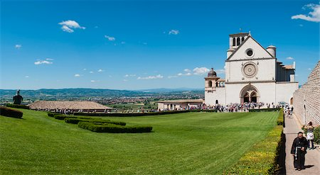 Basilica of San Francesco D'Assisi, Assisi, Umbria, Italy Stock Photo - Rights-Managed, Code: 700-05389371
