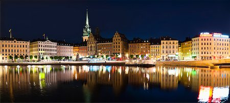 stockholm - Old Town at Night, Gamla Stan, Stockholm, Sweden Stock Photo - Rights-Managed, Code: 700-05389384
