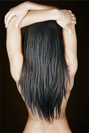 Woman with Long Hair in Studio Stock Photo - Rights-Managed, Code: 700-05451016