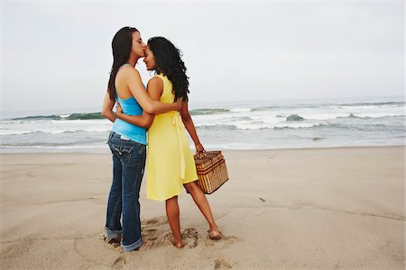 Couple Kissing on Beach Stock Photo - Rights-Managed, Code: 700-05451037