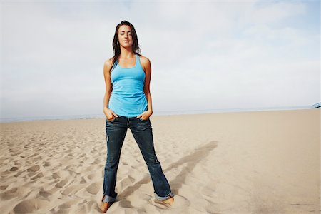 peter griffith - Woman Standing on Beach Stock Photo - Rights-Managed, Code: 700-05451032