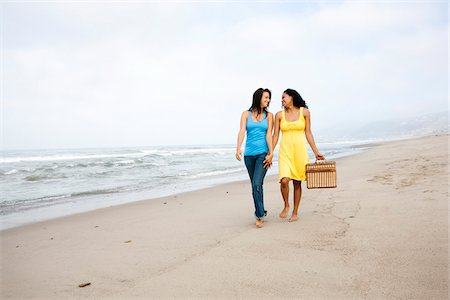 Couple with Picnic Basket on Beach Stock Photo - Rights-Managed, Code: 700-05451054