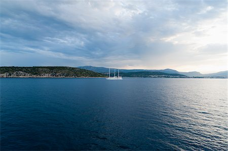 sailing boat storm - Ship and Storm Clouds, near Split, Split-Dalmatia County, Croatia Stock Photo - Rights-Managed, Code: 700-05451881