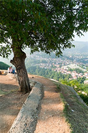 View of City from Yellow Bastion, Sarajevo, Federation of Bosnia and Herzegovina, Bosnia and Herzegovina Stock Photo - Rights-Managed, Code: 700-05451989