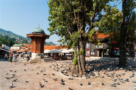 Bascarsija, Sarajevo, Federation of Bosnia and Herzegovina, Bosnia and Herzegovina Stock Photo - Rights-Managed, Code: 700-05451991