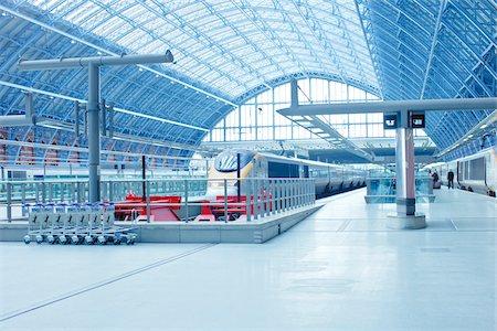 platform - St. Pancras Eurostar Terminal, Camden, London, England Stock Photo - Rights-Managed, Code: 700-05452080