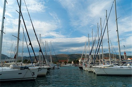 sailing boat storm - Boats in Port, Trogir, Split-Dalmatia County, Croatia Stock Photo - Rights-Managed, Code: 700-05452109