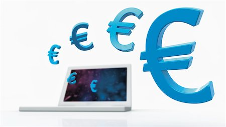 Euro Symbols and Laptop Computer Stock Photo - Rights-Managed, Code: 700-05452103