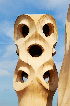 Close-Up of Espanta Bruixes, Casa Mila, Barcelona, Spain Stock Photo - Rights-Managed, Code: 700-05452123