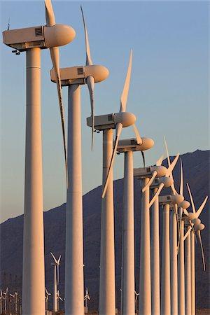 Wind Farm in Desert near Banning, Riverside County, California, USA Stock Photo - Rights-Managed, Code: 700-05524179