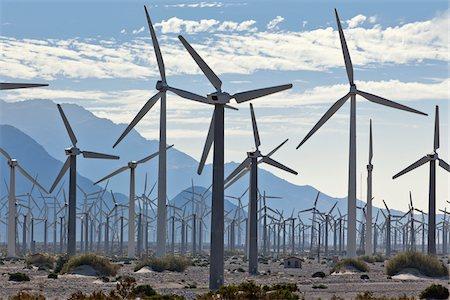 Wind Farm in Desert near Banning, Riverside County, California, USA Stock Photo - Rights-Managed, Code: 700-05524180