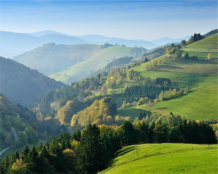 Mountains and Farmland, Willnau, Black Forest, Baden-Wurttemberg, Germany Stock Photo - Rights-Managed, Code: 700-05524259