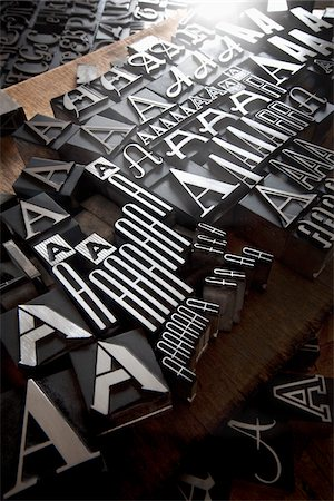 print - Metal Letterpress A Stock Photo - Rights-Managed, Code: 700-05524386