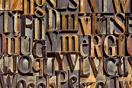 Wood Letterpress Stock Photo - Rights-Managed, Code: 700-05524391