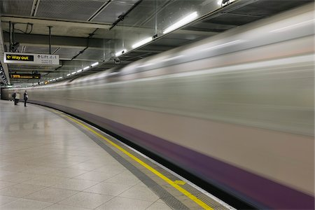 Train Passing Through Subway Station, London, England Stock Photo - Rights-Managed, Code: 700-05524569