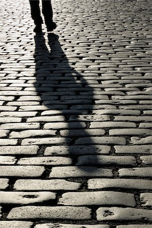 Shadow of Person on Cobblestones, London, England Stock Photo - Rights-Managed, Code: 700-05524561