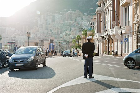roads and sun - Traffic Officer, Monaco, Cote d'Azur Stock Photo - Rights-Managed, Code: 700-05560283