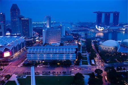 Suntec City and Marina Bay Sands, Marina Centre, Singapore Stock Photo - Rights-Managed, Code: 700-05609414