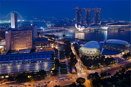 Suntec City and Marina Bay Sands, Marina Bay, Singapore Stock Photo - Rights-Managed, Code: 700-05609415