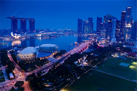 Suntec City and Marina Bay Sands, Marina Bay, Singapore Stock Photo - Rights-Managed, Code: 700-05609416