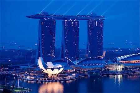 Marina Bay Sands Resort, Marina Bay, Singapore Stock Photo - Rights-Managed, Code: 700-05609417