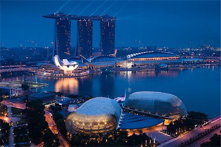 Marina Bay Sands Resort, Marina Bay, Singapore Stock Photo - Rights-Managed, Code: 700-05609418