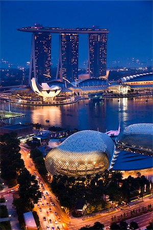 Marina Bay Sands Resort, Marina Bay, Singapore Stock Photo - Rights-Managed, Code: 700-05609419