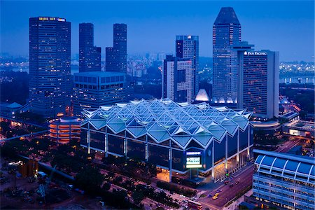 Suntec City at Night, Marina Centre, Singapore Stock Photo - Rights-Managed, Code: 700-05609412