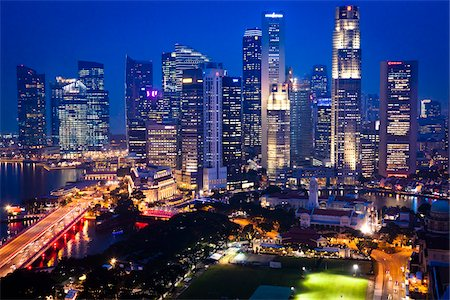 Shenton Way and Financial District, Singapore Stock Photo - Rights-Managed, Code: 700-05609424