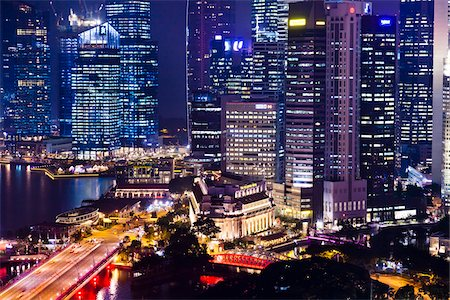 Shenton Way and Financial District, Singapore Stock Photo - Rights-Managed, Code: 700-05609425
