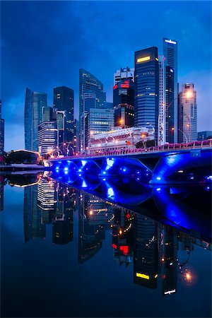 Shenton Way and Financial District, Central Region, Singapore Stock Photo - Rights-Managed, Code: 700-05609429
