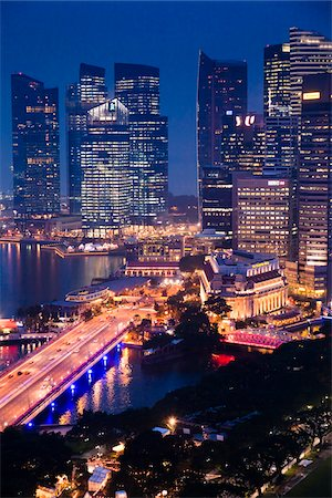 Shenton Way and Financial District, Singapore Stock Photo - Rights-Managed, Code: 700-05609421