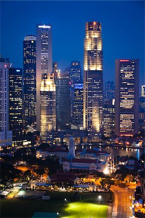 Shenton Way and Financial District, Singapore Stock Photo - Rights-Managed, Code: 700-05609422