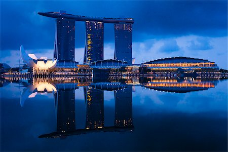 Marina Bay Sands Resort, Marina Bay, Singapore Stock Photo - Rights-Managed, Code: 700-05609430