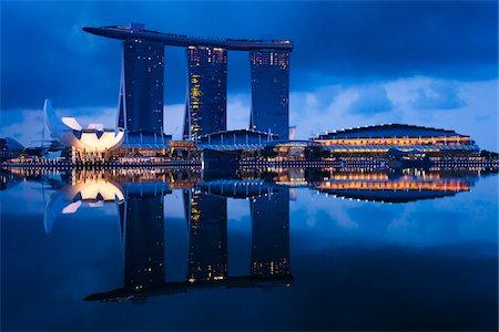 Marina Bay Sands Resort, Marina Bay, Singapore Stock Photo - Rights-Managed, Code: 700-05609430
