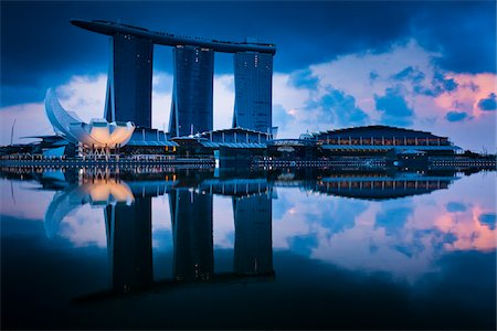 Marina Bay Sands Resort, Marina Bay, Singapore Stock Photo - Rights-Managed, Code: 700-05609431