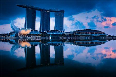 Marina Bay Sands Resort, Marina Bay, Singapore Stock Photo - Rights-Managed, Code: 700-05609431