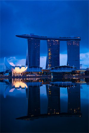 Marina Bay Sands Resort, Marina Bay, Singapore Stock Photo - Rights-Managed, Code: 700-05609432