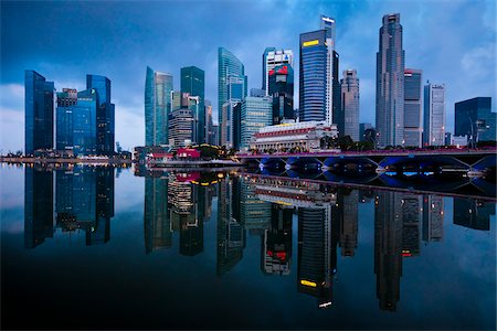 Shenton Way and Financial District, Central Region, Singapore Stock Photo - Rights-Managed, Code: 700-05609433